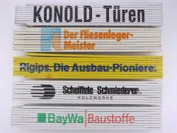 Sammlung 5x Zollstock Meterstab Baywa Kaufmann Rigips TOP!