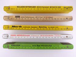 Sammlung 5x Zollstock Meterstab Mitthuber Nerb Stöckl TOP!