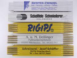 Sammlung 5x Zollstock Meterstab Schäffer Rigips JRG TOP!