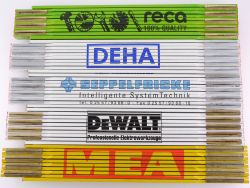 Sammlung 5x Zollstock Meterstab MEA DeWalt DEHA TOP