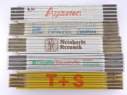 Sammlung 5x Zollstock Meterstab Alphatec Denzel TOP
