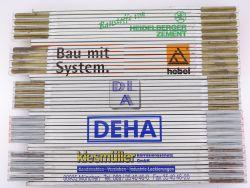 Sammlung 5x Zollstock Meterstab Hebel DLA Deha TOP