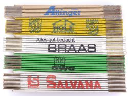 Sammlung 5x Zollstock Meterstab Salvana Braas Attinger TOP