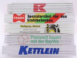 Sammlung 5x Zollstock Meterstab Frank Beton Kettlein TOP!