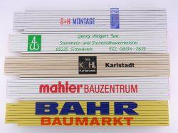 Sammlung 5x Zollstock Meterstab SWL Mahler Bahr TOP!