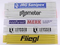 Sammlung 5x Zollstock Meterstab Fliegl Leysser Popmeter TOP!