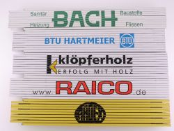 Sammlung 5x Zollstock Meterstab Bach Egger Raico TOP!