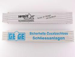 Sammlung 2x Zollstock Meterstab Weit Geige Umicore TOP!