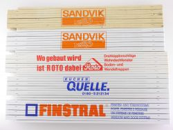 Sammlung 5x Zollstock Sandvik Roto Quelle TOP!