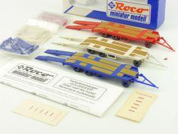 Roco 1402 Set 3x Tieflader Goldhofer Anhänger für LKW 1:87 OVP