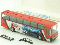 Rietze 60182 Reisebus MB Mercedes O 303 15 RHD Bur Busse OVP