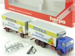 Herpa 818095 MAN Edeka Supermarkt Hängerzug HZ OVP