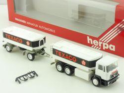 Herpa 864003 MAN F 90 Texaco Tank-Hängerzug LKW 1:87 OVP