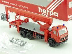 Herpa 806513 MB Kranwagen MTS 260 Ruthmann Steiger Feuerwehr OVP