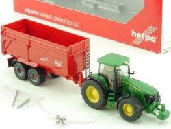 Herpa 154376 John Deere 7920 Traktor Krampe Kipper 1:87 OVP