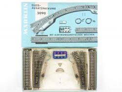 Märklin 5090 M-Gleis Ergänzungspackung Zusatzpackung Weichen OVP