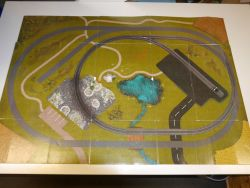 Märklin Geländevorlage mit Gleisplan C-Gleis aus Karton Anlage