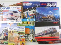 Großes Literaturpaket Modellbahn Märklin Magazin Kataloge  ZZ