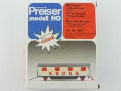 Preiser 3.0607 Bürowagen Zirkus Circus Krone Bausatz 1:87 OVP SG