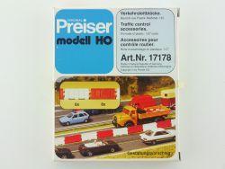 Preiser 17178 Verkehrsleitblöcke für Autobahn Baustelle 1:87 OVP ST