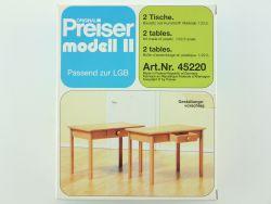 Preiser 45220 Tische mit Schubladen Dekoration für LGB gebaut OVP