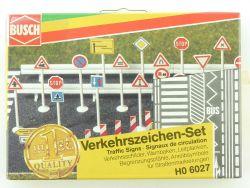 Busch 6027 Verkehrszeichen Warnbaken Schilder Leitplanke H0 OVP