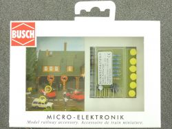 Busch 5925 Micro-Electronic Einbau-Warnblinkset ModellbahnH0 OVP