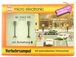 Busch 5942 Verkehrsampel autom. Lichtwechsel Elektronisch H0 OVP