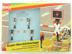 Busch 5913 Super Warnblinkanlage 4x Andreaskreuz LED H0 OVP