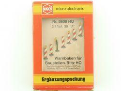 Busch 5908 Warnbaken Baustellen Blitz Elektronik Beleuchtet OVP