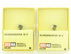Brawa 2x 4538 Scheinwerfer Strahler Modellbahn Spur N OVP ST