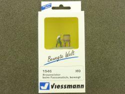 Viessmann 1546 Braumeister beim Fassanstich Figur bewegt H0 OVP