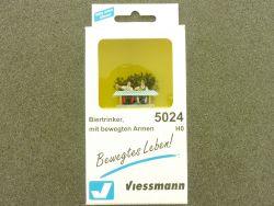 Viessmann 5024 Bayern Biertrinker bewegte Arme Figur H0 OVP