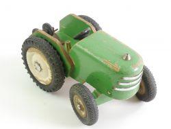 Holz Spielzeug Trecker Traktor mit Seilwinde ca. 1:18 60er