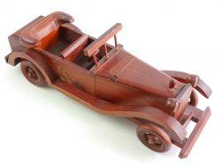 Holz Spielzeug Oldtimer Tischdose Zigaretten-Spender 70/80er