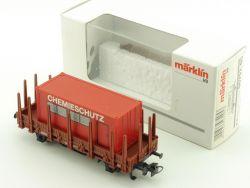 Märklin 00752-05 Rungenwagen Container Chemieschutz DB OVP