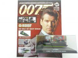 James Bond Collection Heft 82 Q Boat Boot Pierce Brosnan 007 OVP
