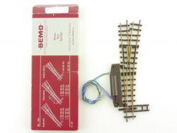Bemo 4006 elektrische Weiche rechts 12° 147 mm R 515 H0e OVP ST