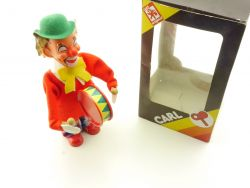 Max Carl 611-1 Clown Trommel original 70er Uhrwerk Figur MIB OVP