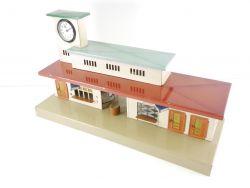 Kibri 52/50 Blech-Bahnhof Baden echte Uhr US Zone Tin Plate