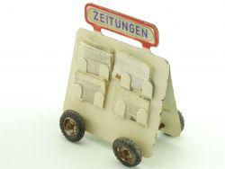 Kibri 60/4 1/4 Zeitungswagen mit Zeitungen 1950 Spur 0 tin toy
