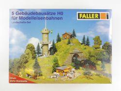 Faller 23188204 5x Gebädebausätze Landschaftsset H0 OVP