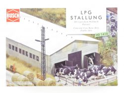 Busch 1410 LPG Stallung Welldach Bausatz Landwirtschaft H0 OVP