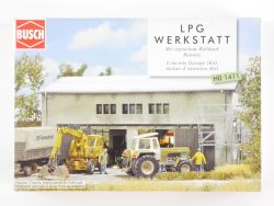 Busch 1411 LPG Werkstall Welldach Bausatz H0 OVP