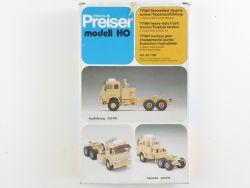 Preiser 1158 TITAN Schwerlast Tropen-Zugmaschine Bausatz RAR OVP
