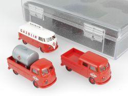 Brekina 90389 VW T1 Bus Pritsche Gasolin Tankstelle Konvolut OVP