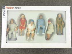 Preiser 45152 Modellbahn Figuren Sitzende Reisende für LGB OVP