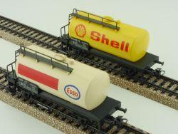 Märklin Konvolut 2x Kesselwagen Tankwagen Shell Esso