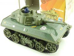 Joustra Panzer Tchad Tank Militär Uhrwerk char tin toy MIB  OVP