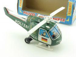 TPS Japan Hubschrauber Helicopter Polizei Blech Spielzeug Box OVP